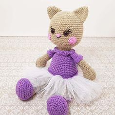 This Ballerina Cat Doll Crochet Pattern will help you to make a wonderful gift for a little girl. It's not a secret that most of little girls love cats, dolls and dancing.