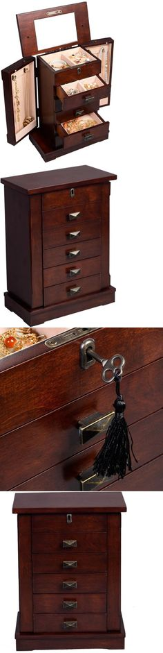 Jewelry Boxes 3820 Armoire Jewelry Cabinet Box Storage Chest Stand