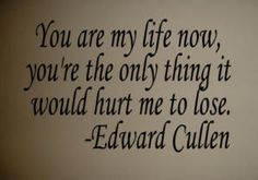 Well even though it is an Edward Cullen quote, this is very true! I would die if I lost you!
