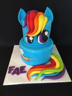 Rainbow Dash MLP cake