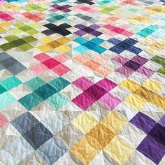 This quilt is STUNNING.  #quiltsofinstagram  #Repost @vchristenson ・・・ Well thank you! What a lovely response to our new #VandCoOmbre :) here's one more of #CrissCrossApplesauceQuilt which will be available to purchase later next week.  also huge shout out to my quilter/friend/tell me not to freak out in the middle of the night @loki_pokie_oakie there is NO way I could do any of this without you