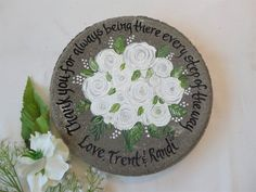 Personalized Wedding Garden Stone Gifts for Parents with ANY FLOWERS names, titles and dates! Mother Of The Groom Gifts, Bride And Groom Gifts, Mother Gifts, Parent Gifts, Family Gifts, Teacher Gifts, Retirement Gifts For Women, Wedding Gifts For Parents, Personalized Garden Stones