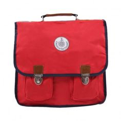 Rainbow details school satchel Red Leçons de choses
