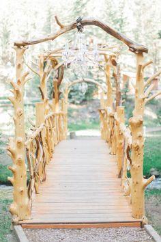 Rustic aisle decor: http://www.stylemepretty.com/arizona-weddings/greer/2015/09/14/rustic-romantic-arizona-summer-wedding-2/ | Photography: Andrew Jade - http://andrewjadephoto.com/