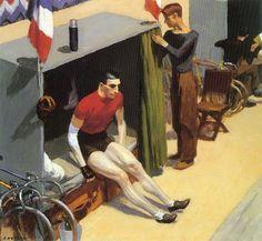 'French six day bicycle rider' - Edward Hopper, 1937.