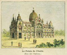 Paris Expo 1900. Palais de l'Italie