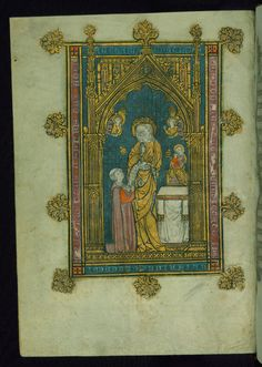 Book of Hours Virgin and Theophilus Walters Manuscript W.104 fol. 1v by Walters Art Museum Illuminated Manuscripts