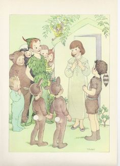 Peter Pan Wendy Tinkerbell Lost Boys Nursery by VintageButtercup, $7.00