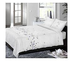 Parure de lit DESCANSO coton, blanc - 220*240