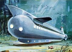 Try this one for size: an underwater hotel and cruise ship from the (a Russian concept) - Underwater Hotel, Floating Architecture, Steampunk, Futuristic Art, Alternate History, Science Fiction Art, Ship Art, Weird World, Sci Fi Fantasy