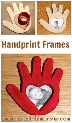 Valentine's Day Crafts for Kids - Salt Dough Handprint Frames