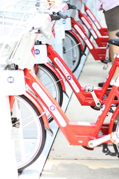 These bikes are available all around town and can be rented for a small fee. Ride around and explore!