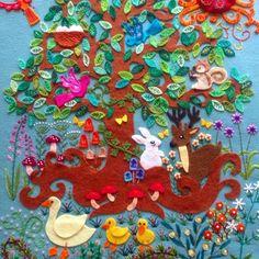 【pienikorvasieni】さんのInstagramをピンしています。 《マガジンランド社主催「贈る」展にて作品を展示して頂く事になりました。 作品名は「森のお喋り」です。 銀座にお越しの際、足を運んで頂けると嬉しいです❤️ 会場:ギャラリー悠玄(中央区銀座6-3-17 悠玄ビル) 会期:2016.9.9〜9.11 皆様、どうぞよろしくお願い致します。 #マガジンランド #贈る展 #刺繍 #embroidery #embroideryart #embroiderybag #フェルト #フェルト刺繍 #felt #手芸 #handcraft #handmade #手作り #手刺繍 #手仕事 #うさぎ #兎 #シカ #鹿 #アヒル #キノコ #森 #小鳥 #刺しゅう #ししゅう #ハンドメイド #針仕事 #動物》