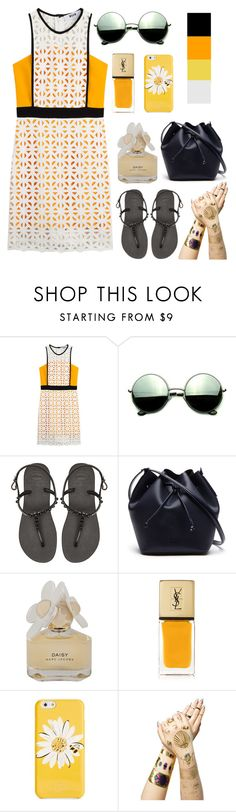 """""""Summer!"""" by jdee10 ❤ liked on Polyvore featuring MSGM, Revo, Havaianas, Lacoste, Marc by Marc Jacobs, Yves Saint Laurent, Kate Spade and Tattify"""