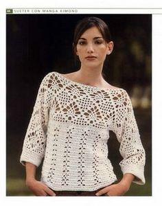 Fabulous Crochet a Little Black Crochet Dress Ideas. Georgeous Crochet a Little Black Crochet Dress Ideas. Débardeurs Au Crochet, Mode Crochet, Crochet Jacket, Crochet Cardigan, Filet Crochet, Crochet Stitches, Crochet Tops, Crochet Pattern, Easy Crochet