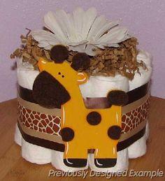 Mini Diaper cake - safari theme