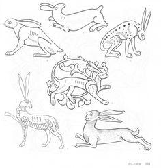 4000 Animal, Bird and Fish Motifs - Assai Elle - Picasa Web Albümleri Vikings, Henna Body Art, South African Artists, Interesting Animals, Ancient Art, Art History, Folk Art, Celtic, Art Prints
