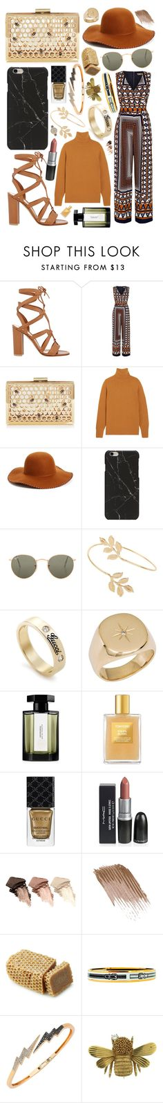 """""""End of summy"""" by foundout ❤ liked on Polyvore featuring Gianvito Rossi, Yumi, Chloé, Phase 3, Ray-Ban, Miss Selfridge, Gucci, Diamond Star, L'Artisan Parfumeur and Tom Ford"""
