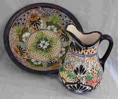 Talavera Pitcher & Basin - Mexican Connexion for Talavera Pottery [ MexicanConnexionforTile.com ] #shop #Talavera #Mexican