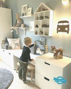 Toddler Rooms, Baby Boy Rooms, Ikea Kids Room, Kids Bedroom, Ikea Stuva, Ikea Ikea, Ikea Malm, Sala Grande, Changing Room