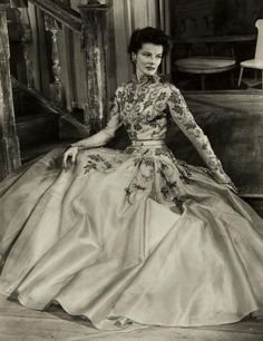Katherine Hepburn in the West End production of GB Shaws The Millionairess, 1952, photo by Angus McBean. The production was later brought to Broadway in October of the same year. via mattadoresit