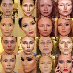 Wow that's some contouring! @samer khouzami | 4 makeup transformations #makeup #samerkhouzami #beauty #trends #makeupartist | Webstagram
