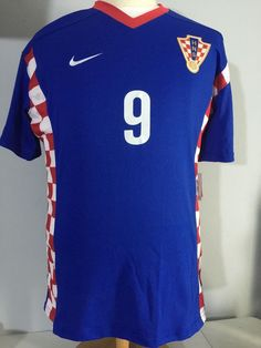 95bd983ba Nike Mens Authentic Soccer Jersey Shirt XXL Croatia Davor Suker  9 HRVATSKA  2XL  Nike  Croatia
