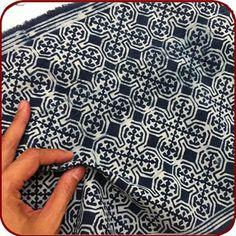 #textile #design #batik #cotton #blue