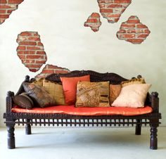 Faux Brick Breakaway Removable Wall Decals by WallDressedUp