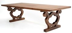 Love this custom table.  It is rustic but has elegant detailing that allows it to be dressed up or down.