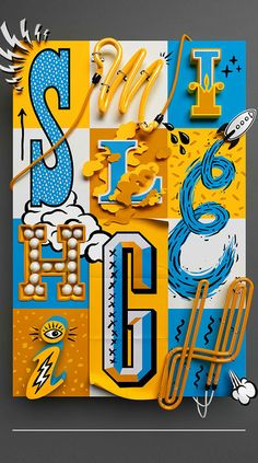 Smile Highby Jacob Eisinger & Andy Gellenberg #signs #signpainting #typography #lettering