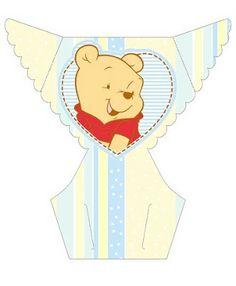 LARGE PRINTABLE SET- Pooh Baby – Kit Completo com molduras para convites, rótulos para guloseimas, lembrancinhas e imagens! | Fazendo a Nossa Festa