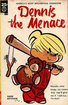 Avon Books - Dennis the Menace Vintage Cartoons, Vintage Comic Books, Vintage Comics, Classic Cartoon Characters, Cartoon Art, Cartoon Brain, Penguin Cartoon, Batman Cartoon, Cartoon Turtle