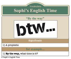 Vocabulário: By the way