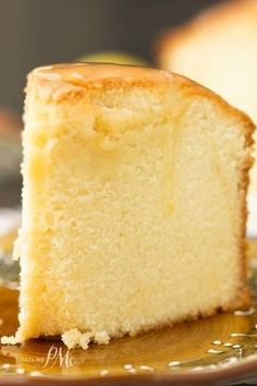 Tall, buttery, moist Old Fashioned Blue Ribbon Pound Cake recipe is loved by everyone that tries it. Always a favorite at potlucks!