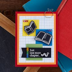 Fun Stampers Journey August 2019 Stamp of the Month is Here - Book Worm. Perfect for back to school and all year round crafting! #FSJSOTM #SpellbindersClubKits #NeverStopMaking