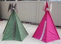DIY Twin Sheet Teepee Tent
