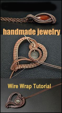 Handmade Jewelry Tutorials, Handmade Wire Jewelry, Diy Jewelry To Sell, Wire Jewelry Designs, Wire Jewelry Making, Wire Tutorials, Wire Wrapped Jewelry, Jewelry Making Tutorials, Jewellery Making