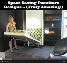 Amazing space saving furniture (video) (diy cozy home) Homemade Furniture, Home Furniture, Furniture Design, Dream House Plans, My Dream Home, Dreams Beds, Bed Wall, Amazing Spaces, Space Saving Furniture