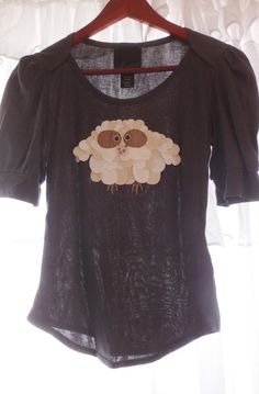 Anthropologie Owl Shirt RARE Leather SMALL #Swapdom