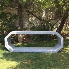 Faux Zinc Cubist Console - Mecox Gardens