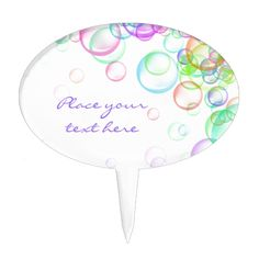 Shop Soap Bubbles Cake Topper created by MoonBloom. Bubble Cake, Bubble Party, Cake Picks, Soap Bubbles, Baby Shower Cakes, Printing Process, Safe Food, Cake Toppers, Cakes Baby Showers