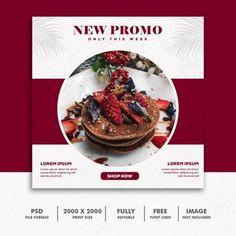Square banner social media post template business yellow | Premium PSD File Food Poster Design, Food Design, Flyer Design, Graphic Design Brochure, Food Banner, Instagram Banner, Instagram Post Template, Instagram Design, Social Media Design