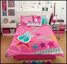 I love this bedding for my little rock star!