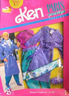 Amazon.com: Barbie KEN Paris Pretty Fashions Outfit (1989): Toys & Games