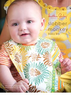 Heather Bailey's Slobber Monkey Baby Bib tutorial!