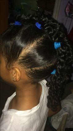 Little girl hairstyle #fauxhawk #twists #littlegirl