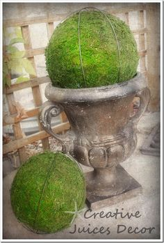 Make your own topiary balls from Creative Juices Decor