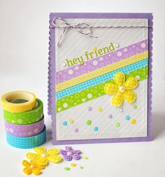 Hey Friend - Scrapbook.com - Made with brand new Queen and Company supplies.