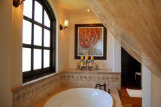 Villa Estero, Cabo San Lucas, Mexico Spanish colonial style bathroom decor